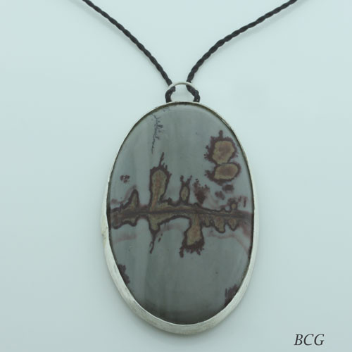 COFFEE BEAN JASPER NECKLACE #N-599