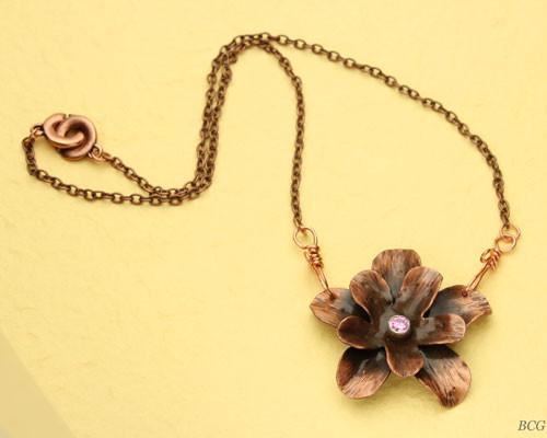Copper Flower Necklace #NE-203