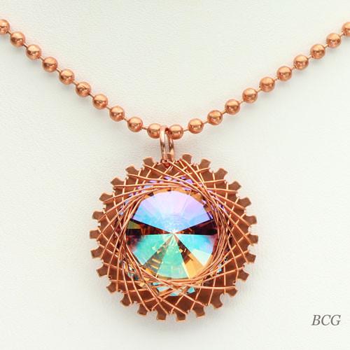 Copper Rivoli Necklace #NE-302