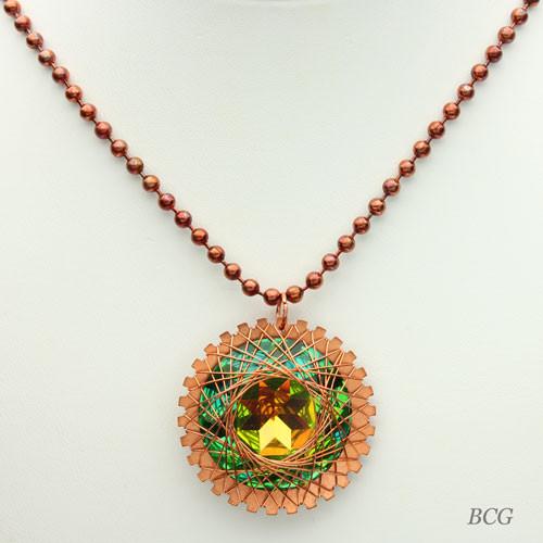 Copper Rivoli Necklace #NE-303