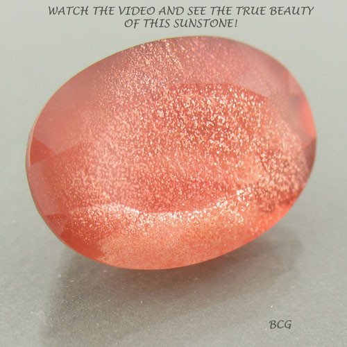 6.12 carat Red Copper Sunstone #G-1999 from the famous DESERT SUN MINE