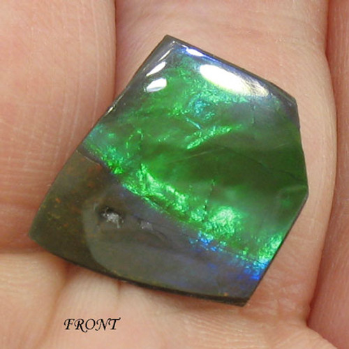 An ultra rare double-sided Ammolite #IT-839
