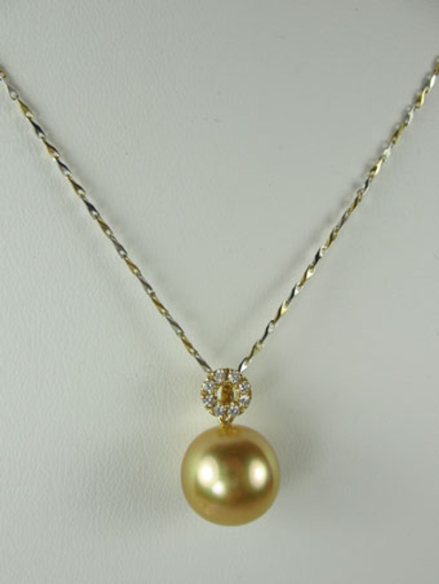 Golden Pearl & Diamond Necklace JGP-85900