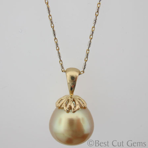 Golden South Sea Pearl Necklace GP-1121