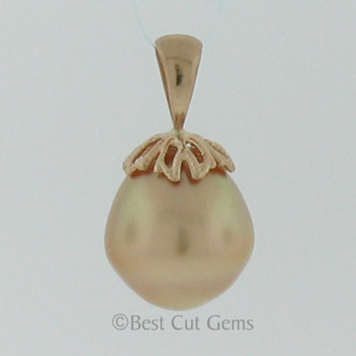 Golden South Sea Pearl Pendant #GP-1127