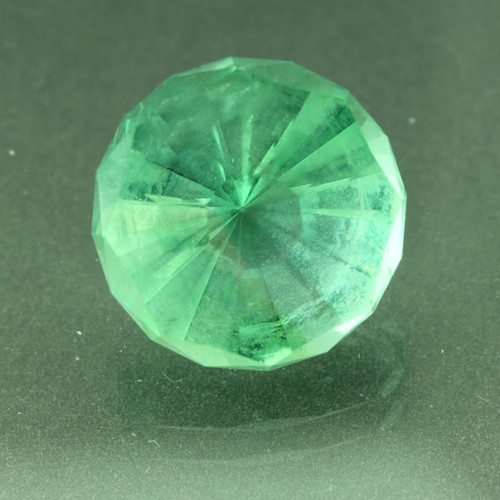 Custom Faceted green Fluorite #G-2400