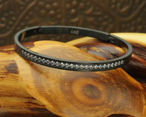 Half Eternity Bangle Bracelet #BR-1025