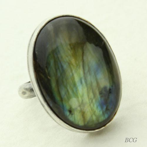Labradorite Sterling Silver Ring #RI-315