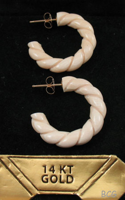 Genuine Woolly Mammoth Ivory Earrings #461
