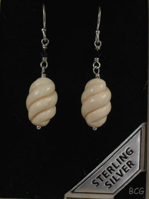 Genuine Woolly Mammoth Ivory Earrings #462