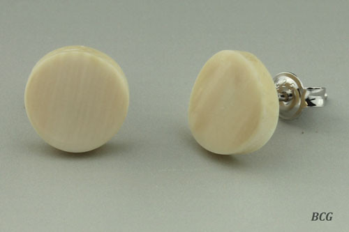 Genuine Woolly Mammoth Ivory Earrings #466