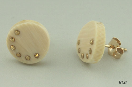 Genuine Woolly Mammoth Ivory Earrings #468