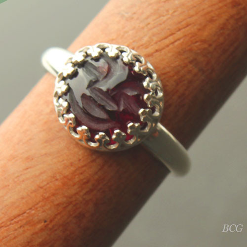 Man in the Moon Garnet Ring #RI-326