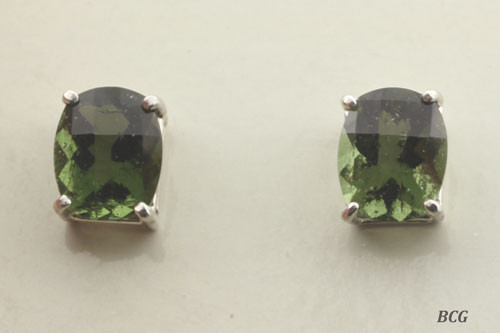 Beautiful Moldavite Earrings #0758 Genuine Moldavites