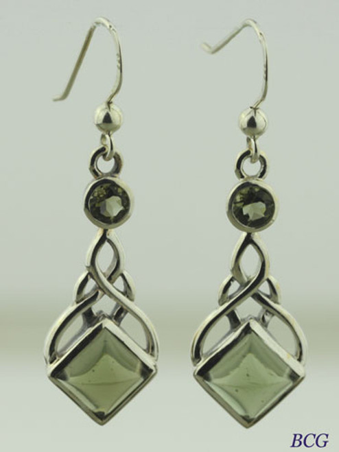Beautiful Moldavite Earrings #150