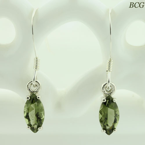 Beautiful Moldavite Earrings #505 Genuine Moldavites
