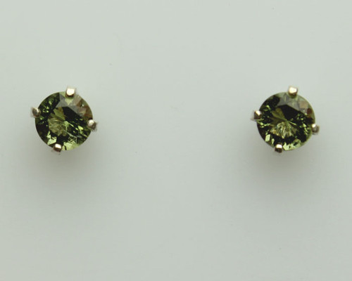 Genuine Moldavite Earrings #647