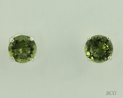 Beautiful Moldavite Earrings #648 Genuine Moldavites