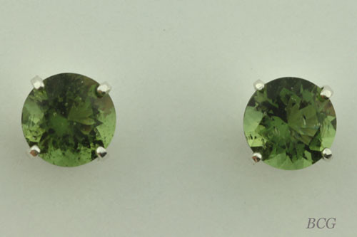 Beautiful Moldavite Earrings #649 Genuine Moldavites