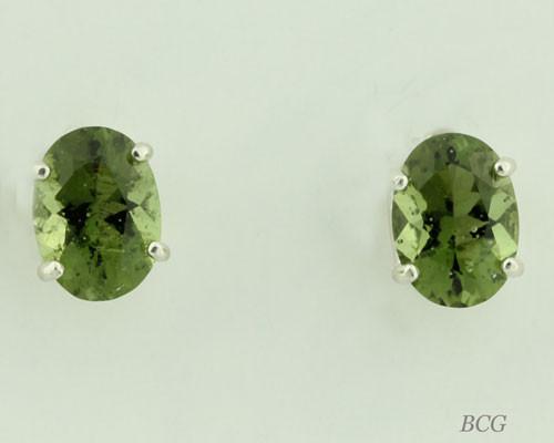 Beautiful Moldavite Earrings #651 Genuine Moldavites