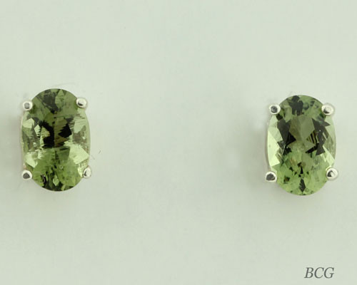 Beautiful Moldavite Earrings #6511 Genuine Moldavites