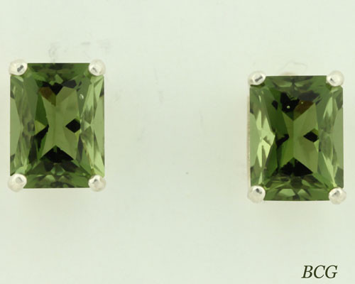 Beautiful Moldavite Earrings #653 Genuine Moldavites