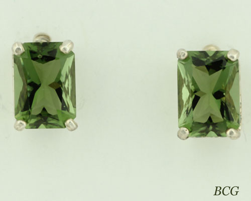 Beautiful Moldavite Earrings #654 Genuine Moldavites