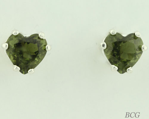 Beautiful Moldavite Earrings #664 Genuine Moldavites