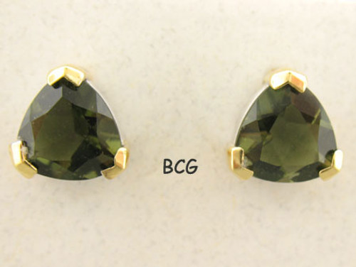 Beautiful, Natural Moldavite Earrings #705G