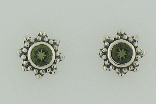 Beautiful Moldavite Earrings #730 Genuine Moldavites