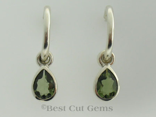 Genuine Moldavite Earrings #744