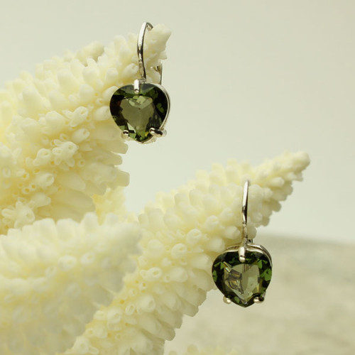 Beautiful Moldavite Earrings #EA-386