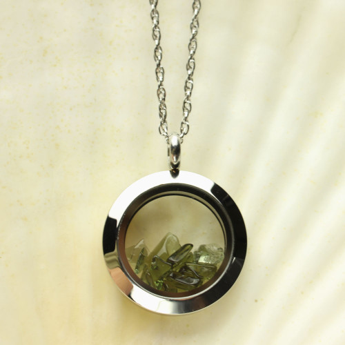 Genuine and Rare, Moldavite Necklace #FLP-020