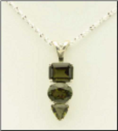 Genuine Moldavites!   Beautiful Moldavite Necklace #0724