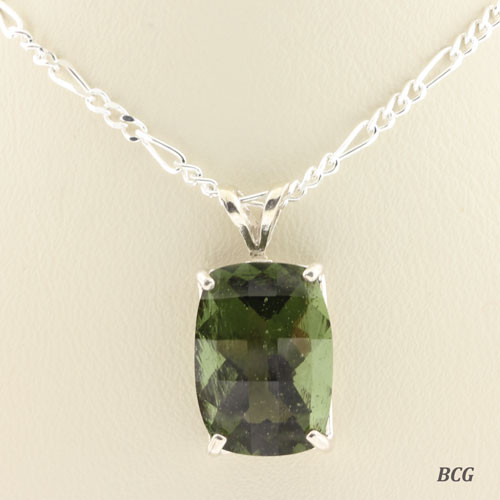 Genuine Moldavite!  Beautiful Moldavite Necklace #0756