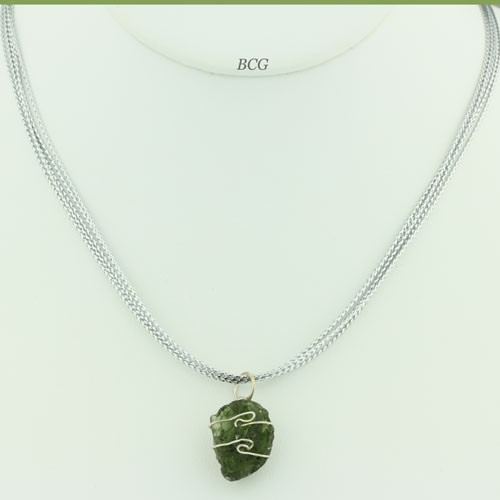 Genuine and Rare, Moldavite Necklace #18