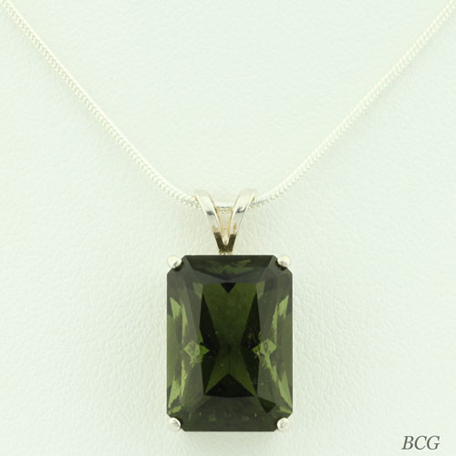 Genuine Moldavite!  Beautiful Moldavite Necklace #709