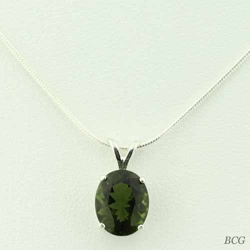 Genuine Moldavite!  Beautiful Moldavite Necklace #712