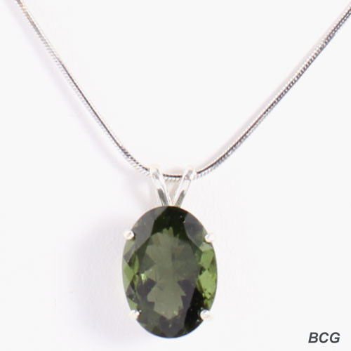 Genuine Moldavite!  Beautiful Moldavite Necklace #7133