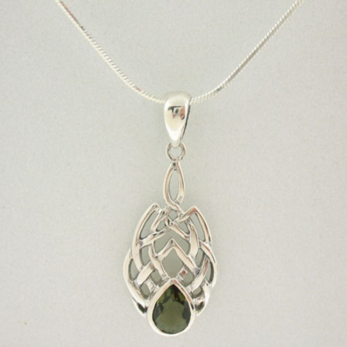 Beautiful Genuine Moldavite Necklace #740