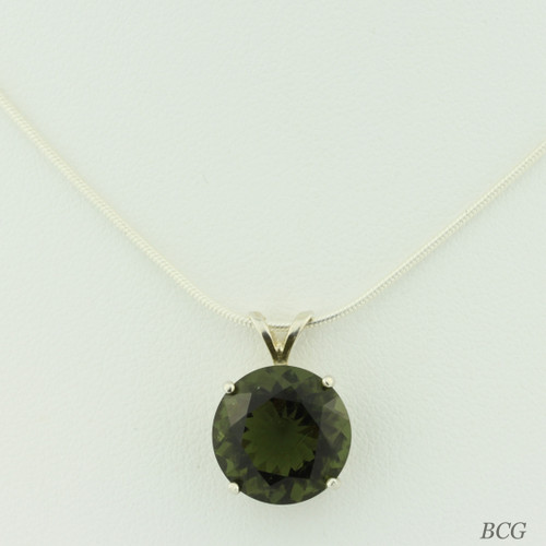 Genuine Moldavite! Beautiful Moldavite Necklace #764