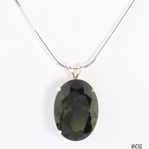 Genuine Moldavite!  Beautiful Moldavite Necklace #769