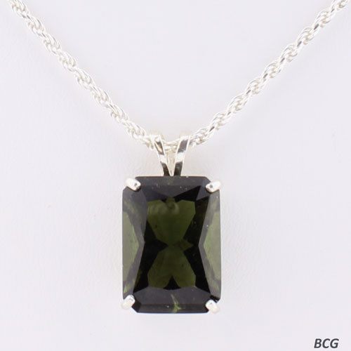 Genuine Moldavite!  Beautiful Moldavite Necklace #772