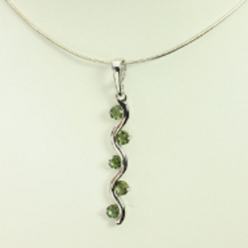 Beautiful Genuine Moldavite Necklace #NE-335