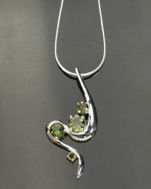 Beautiful Genuine Moldavite Necklace #NE-341