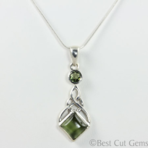 Genuine Moldavite Necklace BCG #124