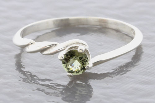 Genuine Moldavite Ring #0108