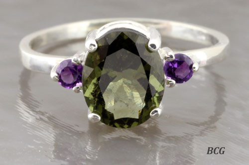 Genuine Moldavite Ring #0604