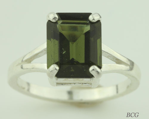 Genuine Moldavite Ring #0612