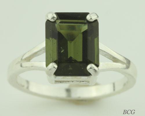 Genuine Moldavite Ring #0612